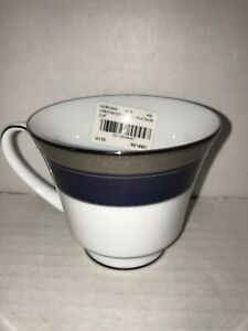 """China Legendary Noritake Crestwood Cobalt Platinum Cup 4.5"""" X 3""""  NEW with tag"""