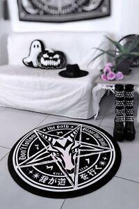Killstar Trailblazer Baphomet Rug NEW Floor Mat Round Rug Goth Dark Home Pentagr