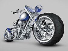 """19"""" x 13"""" Poster Intel Chopper Super Bike"""