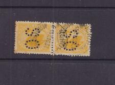 Western Australia 1899 2d yellow SMALL SWAN -OS pair- VFU NORTHAM