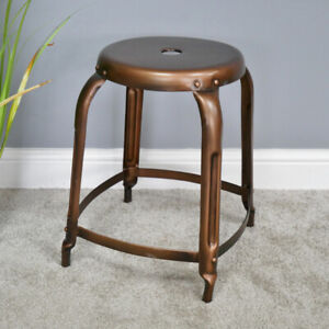 Antique Copper Stool Metal Dressing Table Vanity Seat Dresser Bedroom Chair New