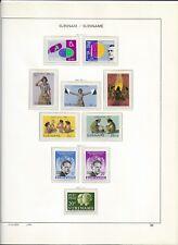 1961 MNH Suriname, album page, postfris**