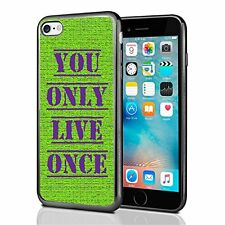 YOLO You Only Live Once For Iphone 7 & Iphone 8 Case Cover Green Purple