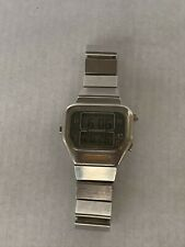 Longines Chronograph Quartz LCD digital steel watch L787.1