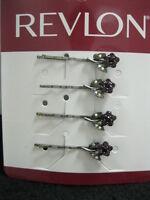 Revlon Hair Accessories Pins Barrettes Purple color Super Elegant K77819x4