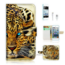 ( For iPod 5 / itouch 5 ) Flip Case Cover! Blue Eye Leopard P0354