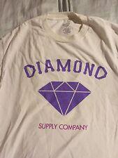 Diamond Supply Co Brilliant T-shirt White purple blue  supreme vintage