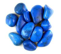 1LB Blue Howlite Tumbled Gemstones Wholesale Bulk TRHOB-16-7L16
