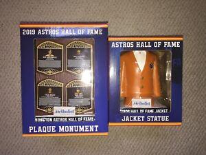 Houston Astros Hall Of Fame Plaque 8/2/19 & Jacket Replica 8/4/19 SGA