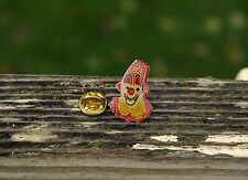 Shriner Clown Gold Tone Metal & Enamel Lapel Pin Pinback