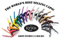 **KYSER QUICK CHANGE 6-STRING ACOUSTIC GUITAR CAPO (KG6) - 19 COLOR CHOICES**