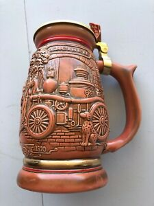 Avon Beer Stein Tribute to American Firefighters Handcrafted Fireman Firetruck