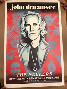 John Densmore of The Doors - Poster SIGNED by Densmore & artist Shepard Fairey