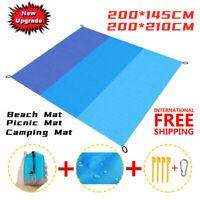 Beach Mat Magic Free Sand Mat Outdoor Picnic Camping Mat Anti-Sand Blanket US