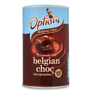 Options Belgian Choc-O-Lait Luxury Instant Hot Chocolate Drink with Sugar 825g