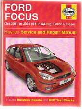 Ford Focus Petrol & Diesel Oct 2001-2004 Haynes Service & Repair Manual
