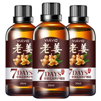 3Packs Hair Regrow 7 Day Ginger Germinal Serum Essence Oil Loss Treatment Growth