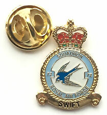 RAF No 72 Swift Squadron Royal Air Force Pin Badge *Official Product*