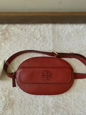 NWT - $295 Tory Burch Taylor Leather Belt Bag In Red