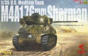 Asuka 35-047 M4A1 76mm Sherman - US Medium Tank - 1:35