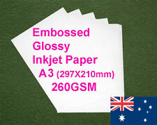 150 sheets A3 260GSM Inkjet Embossed Glossy Photo Paper
