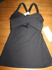 Lululemon Wrap It Up Tank top NWT size 4 black x-small shirt new bra top