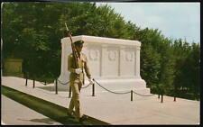 ARLINGTON VA Tomb of the Unknown Soldier Vtg Postcard