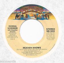 DONNA SUMMER * 45 * Heaven Knows * 1978 * USA ORIGINAL on Casablanca