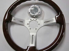 FIAT 124 SPIDER, PININFARINA 2000, 131, WOOD STEERING WHEEL, 330MM, SATIN SPOKES