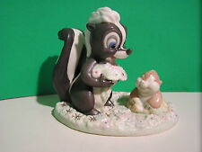 LENOX Disney FLOWER'S FOREST FRIEND SKUNK BAMBI sculpture NEW in BOX with COA