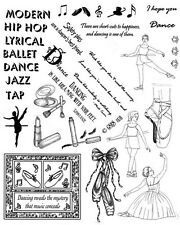 Unmounted Rubber Stamp Sheets, Dance Stamps, Ballet, Dance Quotes, Jazz, Tap
