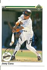 JOEY CORA SAN DIEGO PADRES SIGNED AUTO 1990 UPPER DECK CARD #601 W/COA