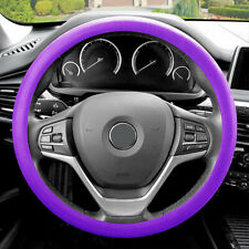 """Steering Wheel Cover Snake Pattern Silicone Purple Color Fits 14.5"""" - 15.5"""""""
