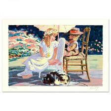 "CORINNE HARTLEY SIGNED ""CHU CHU TRAIN"" L/E 11x16 LITHOGRAPH CHOUINARD ART INST."
