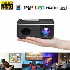 2020 Mini 1080P HD LED Projector HD LCD Video Home Cinema Theater AV HDMI USB US