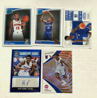 KHYRI THOMAS (5) ROOKIE CARDS LOT - Includes AUTO 23/25 + REFRACTOR - Pistons