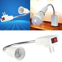 E27 Holder Flexible Light Bulb Lamp Extension Adapter Converter Socket Switch