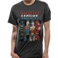 Official Licensed Justice League Line Up Grey T-Shirt
