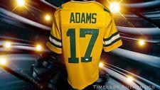 Green Bay Packers Davante Adams Autographed Pro Style Yellow Jersey JSA Cert