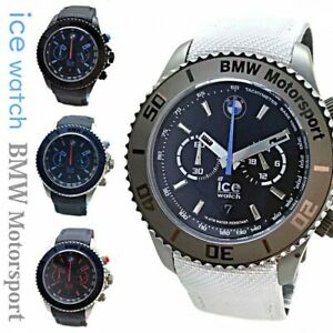 Ice-Watch Men's Big Chronograph Watch BMW Motorsport 4 Color Japan with Tracking