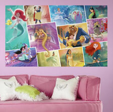 Disney PRINCESS STORYBOOK wall sticker MURAL decal Rapunzel Ariel BEAUTY & BEAST