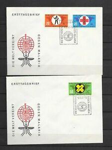 DDR - Nr. 942° - 944°  Kampf gegen die Malaria - 2 FDC von 1963 -