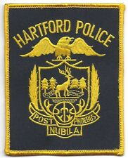 **HARTFORD CONNECTICUT POLICE PATCH**BLK