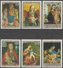Timbres Religion Noel Arts Tableaux Centrafrique 487/90 PA249/50 ** lot 16934