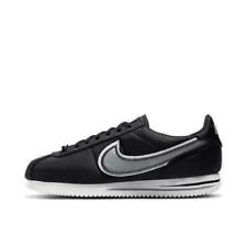 Mens Nike Cortez Premium Shoes Black Wolf Grey Team Orange