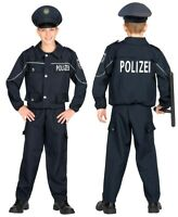 NEU POLIZEI KINDER KOSTÜM FÜR FASCHING KARNEVAL 122-128 KINDERKOSTÜM POLIZIST