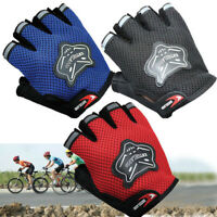 Bike Cycling Half Finger Gloves Kids Children Adults's Bicycle Sport Out Riding