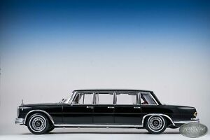 1/18 CMC 1963-1981 MERCEDES 600 PULLMAN (W100) LIMOUSINE GLOSS BLACK 6 Door