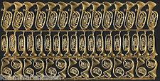 uralter Bogen Dresdner Pappe goldene Blasinstrumente - DRESDEN ORNAMENTS