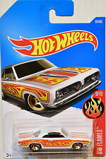 HOT WHEELS 2017 HW FLAMES '68 PLYMOUTH BARRACUDA FORMULA S #9/10 WHITE